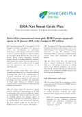 Call for proposals brochure - SmartGrids ERA