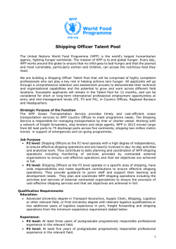 Shipping Officer Talent Pool