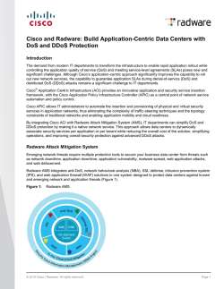 Build Application-Centric Data Centers with DoS and DDoS