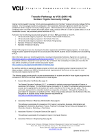 Transfer Pathways to VCU (2015-16) - Transfer Center