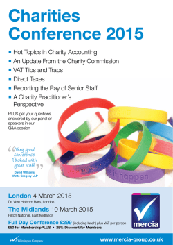 Charities Conference 2015
