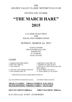 """THE MARCH HARE"" 2015 - Golden Valley Classic Motorcycle Club"