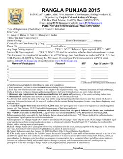 Registration form - Punjabi Cultural Society of Chicago