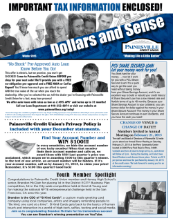Newsletter - Painesville Credit Union