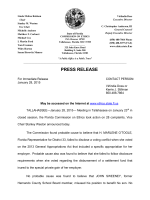 PRESS RELEASE - Florida Commission on Ethics