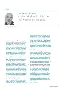 Labor Market Participation of Women on the Rise «