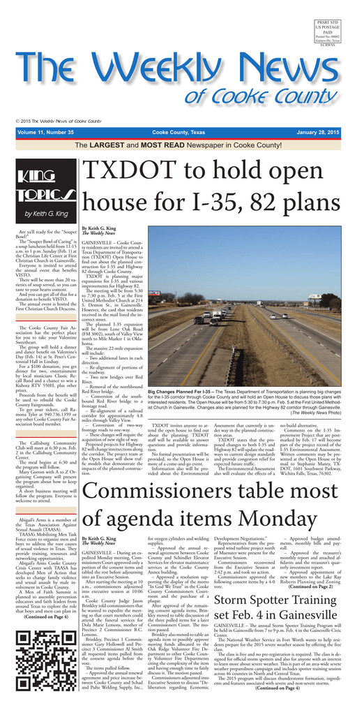 The Weekly News 01-28-15 indd - The Weekly News of Cooke County
