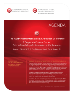 The ICDR® Miami International Arbitration Conference