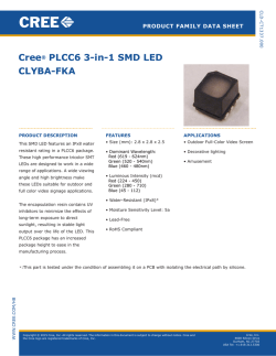 Cree PLCC6 3-in-1 SMD LED: CLYBA-FKA
