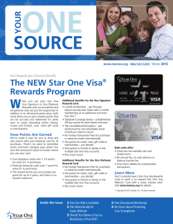 Winter 2015 newsletter - Star One Credit Union