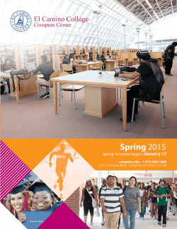 Spring 2015 - El Camino College Compton Center