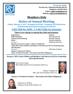 Register - RCI - Ontario Canada Chapter