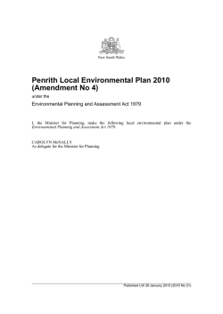 Penrith Local Environmental Plan 2010 (Amendment No 4)