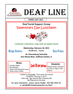 Deaf Line Newsletter - Township of Schaumburg