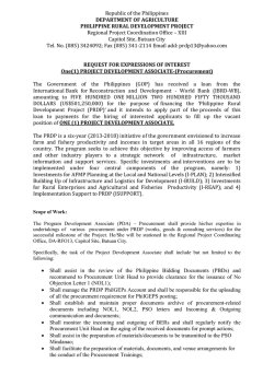 Procurement-PDA - Philippine Rural Development Program