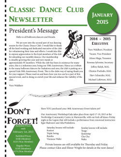 Newsletter - Classic Dance Club