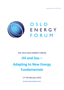 Oil and Gas – Adapting to New Energy