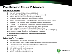 Clinical Data Overview Oct 2014