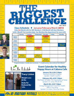 Biggest Challenge - In Motion Fitness