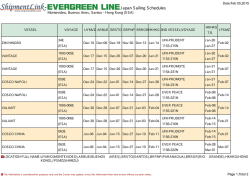 Japan Sailing Schedules