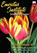 emeritus institute spring semester 2015