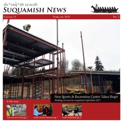 Current Newsletter - The Suquamish Tribe
