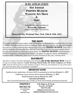 PHIPPEN MUSEUM JURY APPLICATION 41st Annual Western Art