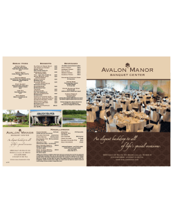 to Print Avalon Manor Menus
