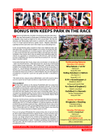 Parknews23 - Rosslyn Park FC
