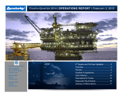 Operations Report - Anadarko Petroleum Corporation