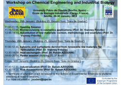 Workshop on Chemical Engineering and Industrial Biology