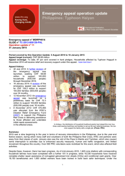 Typhoon Haiyan - International Federation of Red Cross and Red