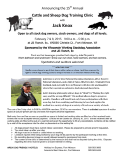 Jack Knox - Wisconsin Working Stock Dog Association