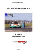 Jack Neal Memorial Stage Rally Regulations 2010