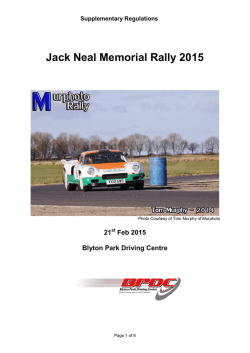 Jack Neal Memorial Stage Rally Regulations 2010