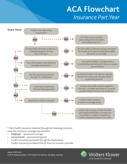 ACA Flowchart - CCH Small Firm Services