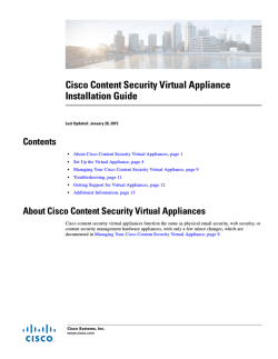 Cisco Content Security Virtual Appliance Installation Guide