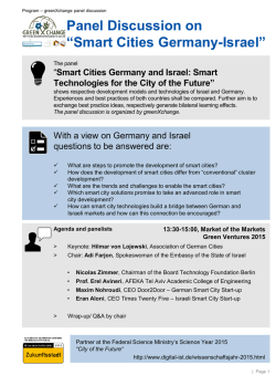 Smart Cities Germany-Israel