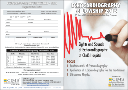 echocardiography fellowship 2015