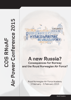 COS RNoAF Air Power Conference 2015