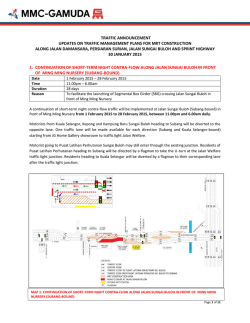 traffic announcement updates on traffic management plans for mrt