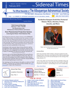 February 2015 - The Albuquerque Astronomical Society
