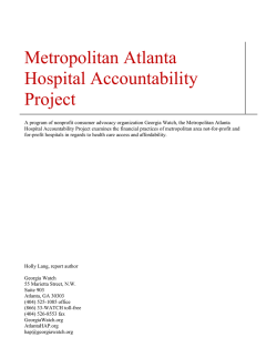 Metropolitan Atlanta Hospital Accountability Project