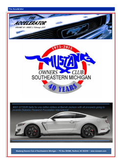 February 2015 - Mustang Owners Club of Southeastern Michigan
