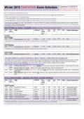 Winter 2015 TENTATIVE Exam Schedule Updated 01/28/2015 IN