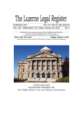 USPS 322-840 - Luzerne County Bar Association