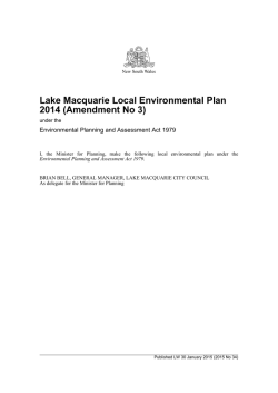 Lake Macquarie Local Environmental Plan 2014 (Amendment No\ 3)