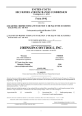 Form 10-Q - Johnson Controls Inc.