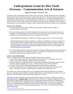 Application Information - MSU Honors College