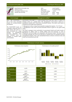Fund Report 30 January 2015 BANTLEON DYNAMIC (IA